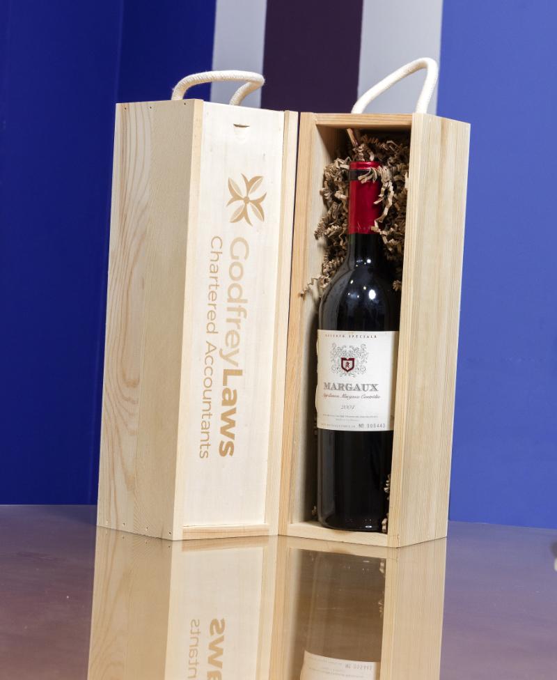Godfrey Laws Bottle of wine for referral
