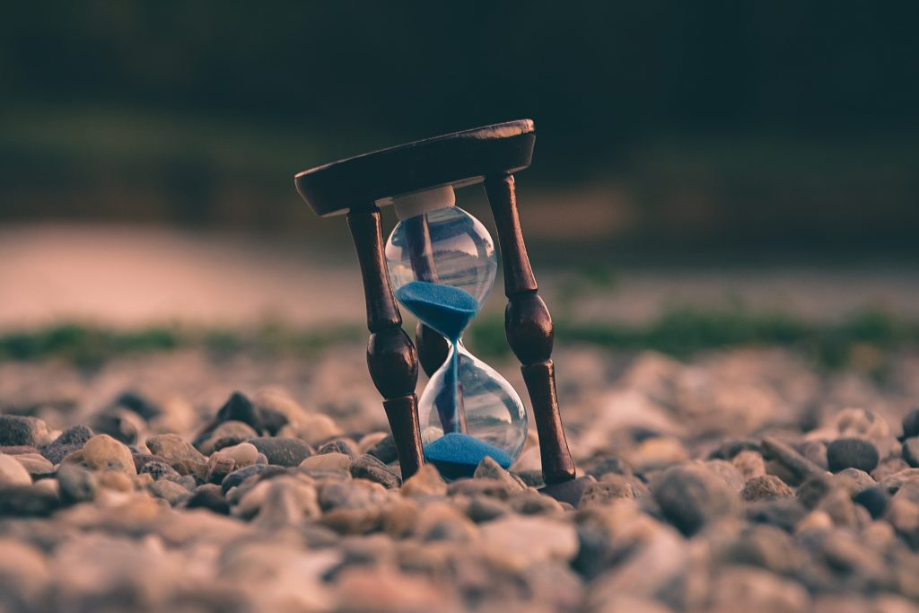 A timer showing the passing of time.